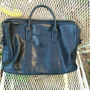 Uri Minkoff double zip messenger briefcase leather